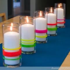 Neon Lights Candleholders