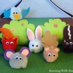 Kid Craft! Make pompom pets from pompoms, googly eyes, and felt!