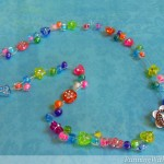 Kid Craft! Tropical Punch Beaded Necklace