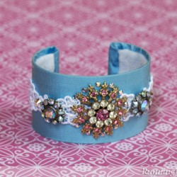 Vintage Brooch Cuff Bracelet