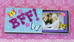 Kid Craft Bff Matchbox Mini Album Running With Sisters