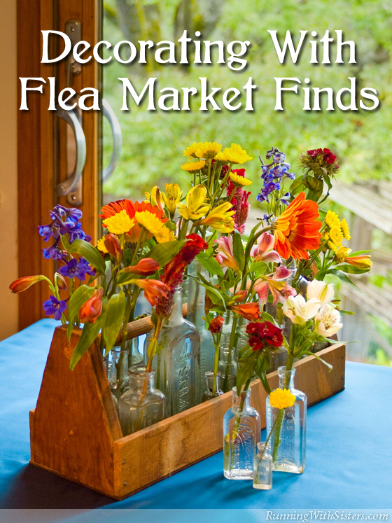 Get one-of-a-kind style with flea market finds! Lots of ideas for upcycle decorating!