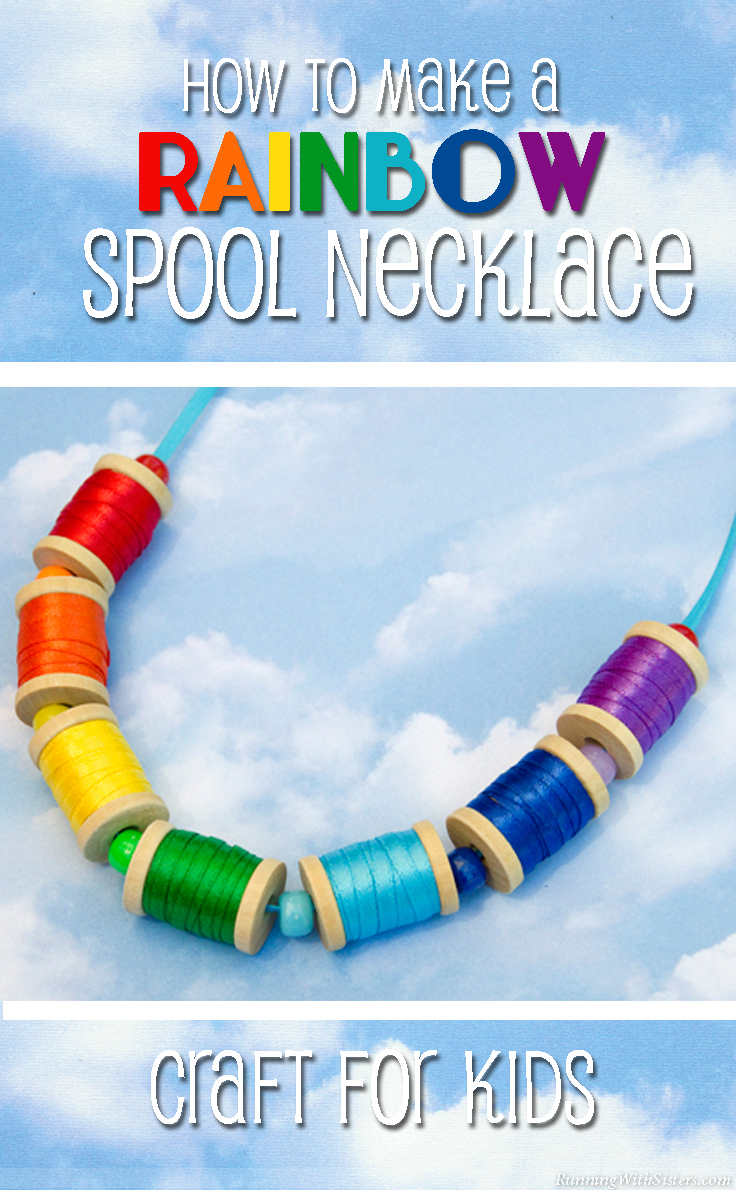 How To Make A Rainbow Spool Necklace