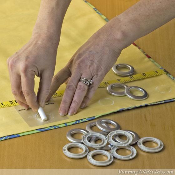 Palm Beach Cafe Curtain - Step 7 Mark Fabric