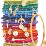 Rainbow Ribbon Wrapped Bracelets