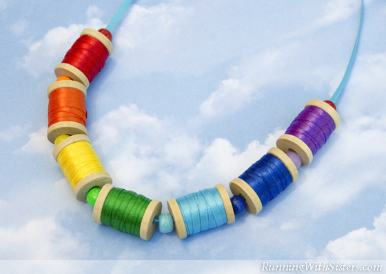 Rainbow Spool Necklace
