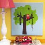 Kid Craft! Hoot Owl Jewelry Tree