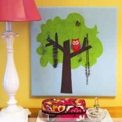 Hoot Owl Jewelry Tree