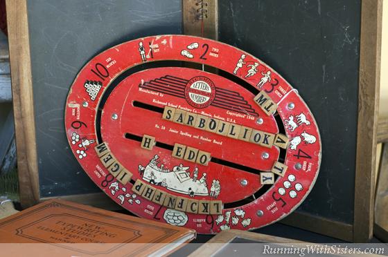 Antique Spelling Board