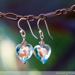Venetian Glass Bead Earrings