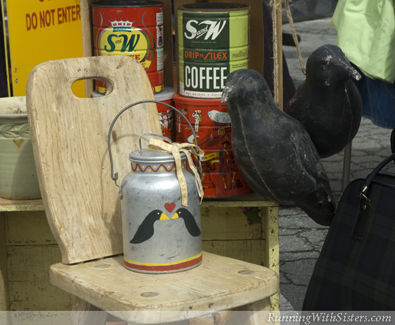 Milk Jug and Raven Decoys