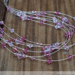 Pretty In Pink Illusion Necklace Draped