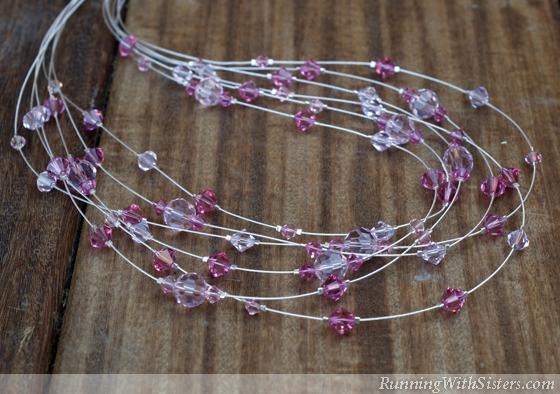 Pretty In Pink Illusion Necklace Draped