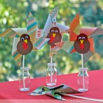 Kid Craft! Turning Turkey Pinwheels