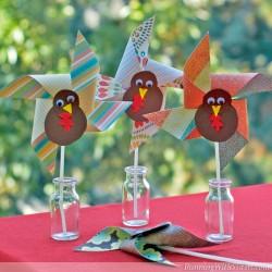 Thanksgiving Turning Turkey Pinwheels