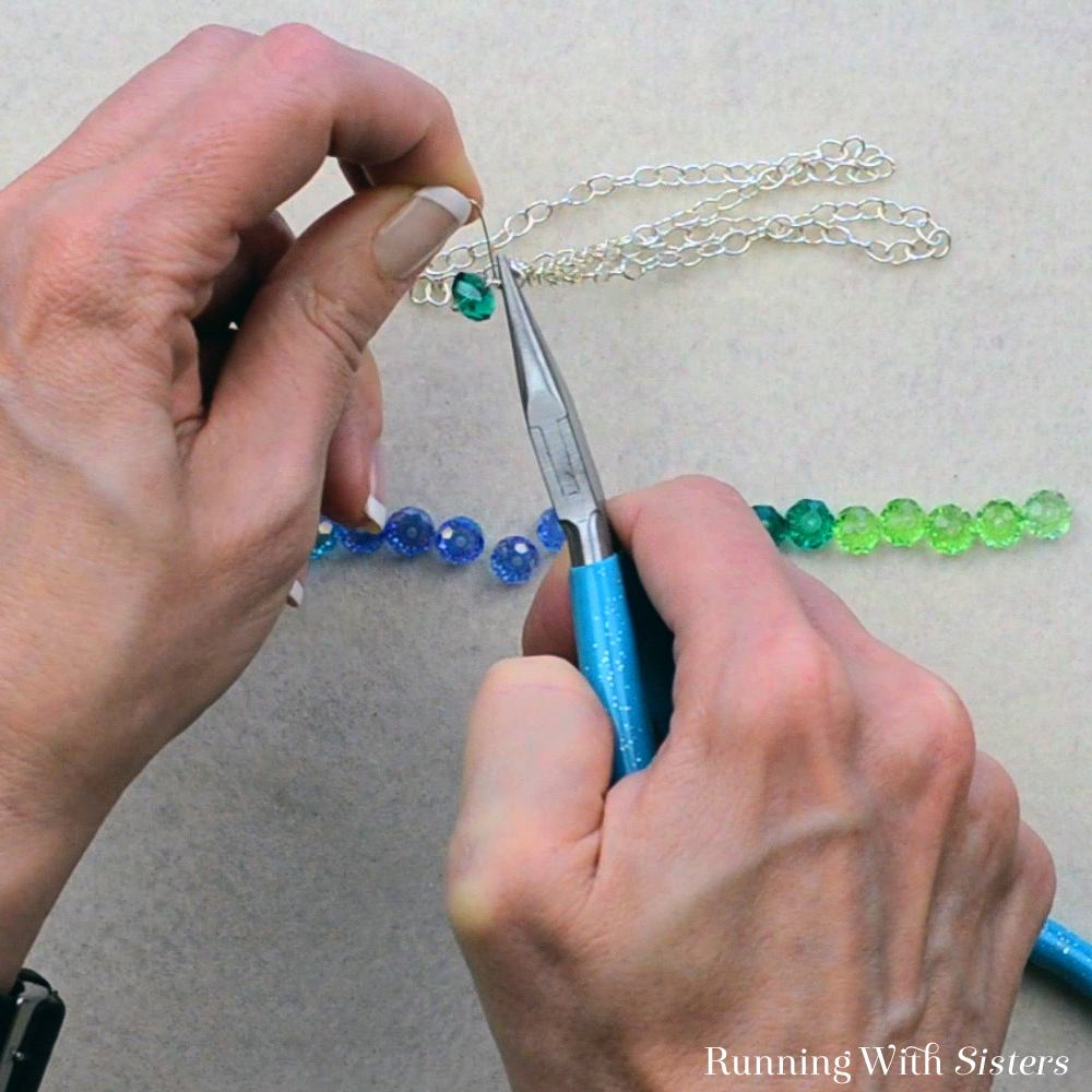 7B Dangling Bead Necklace - Wrap The Loop