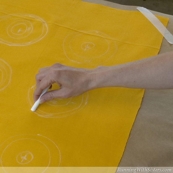Step 1 Draw Pattern On Fabric