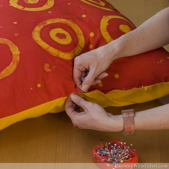 Step 4 Pin The Pillow Closed