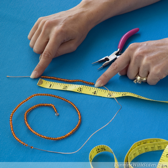Step Two Measure Beads