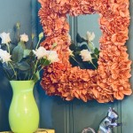 Give A Mirror A Floral Facelift
