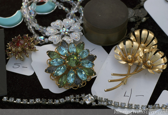 Old Brooches and Jewelry