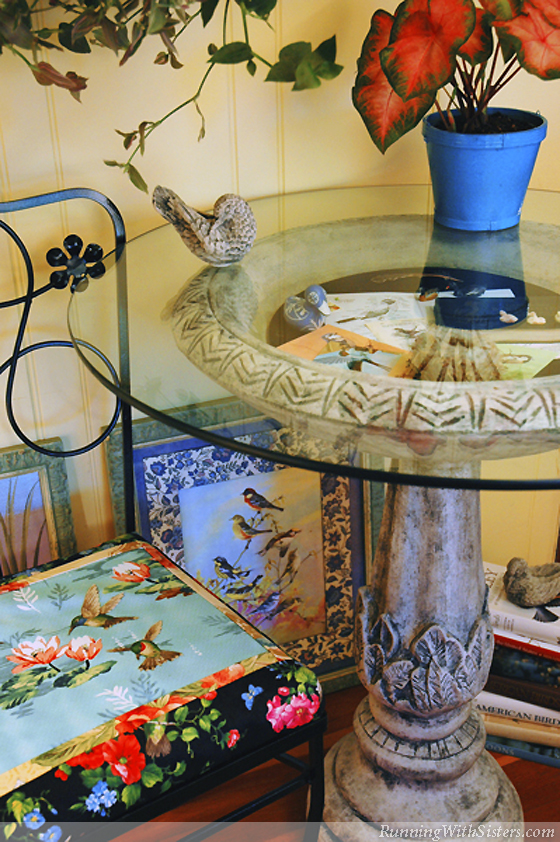 Birdbath Table and Bird Chair