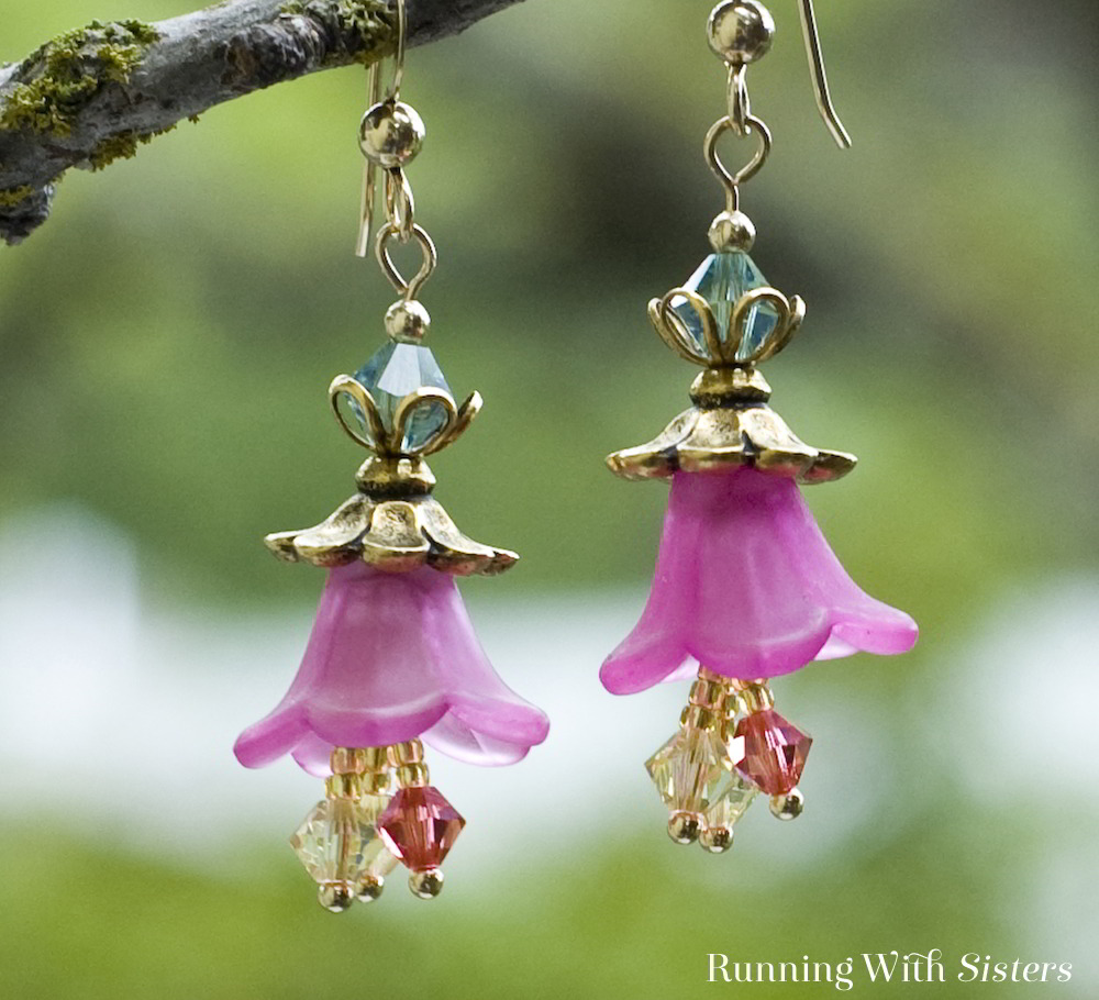 Make a colorful pair of dangling flower earrings with beaded stamens. We'll show you how with this jewelry making tutorial.