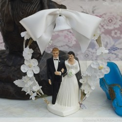 Bell and Bow Cake Topper