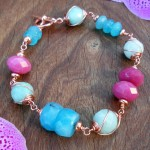 Copper Swirl Gemstone Bracelet