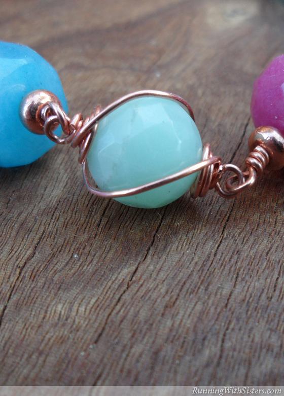 Copper Swirl Gemstone Bracelet Detail 2