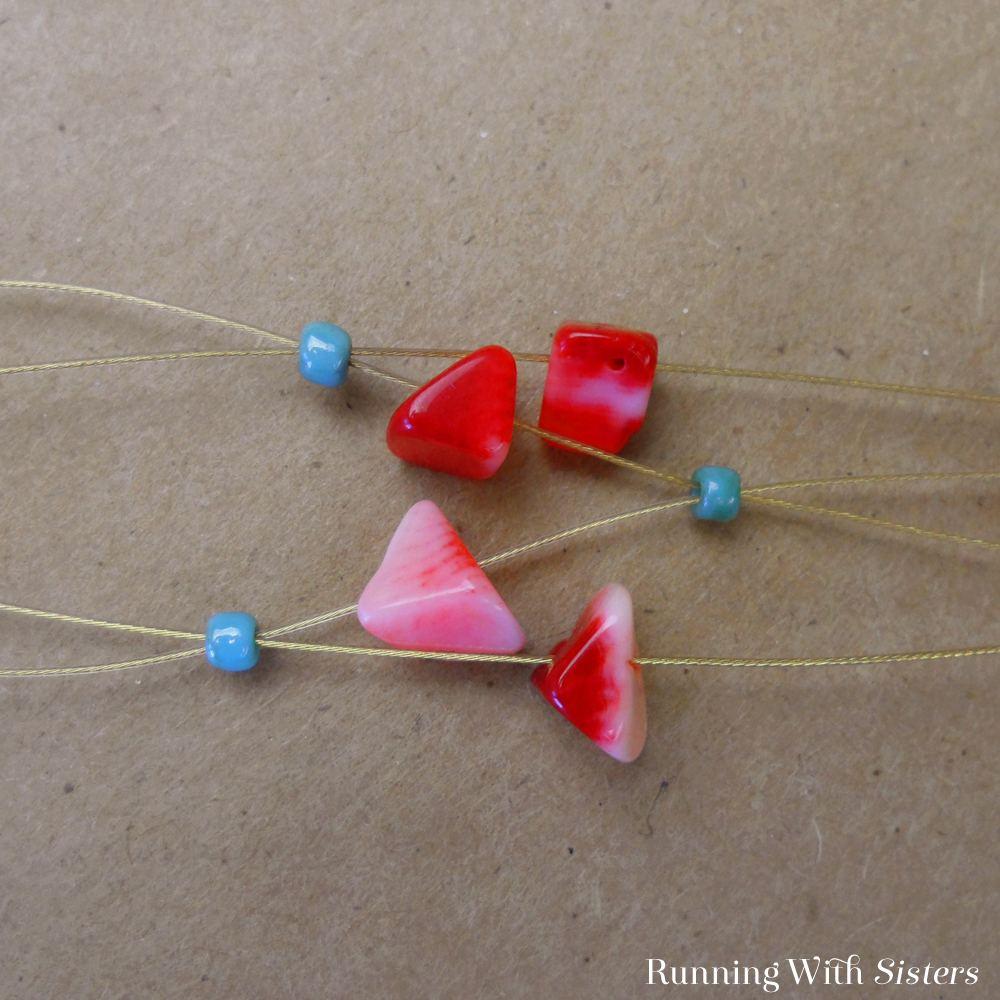 Coral Crisscross Bracelet Detail 3
