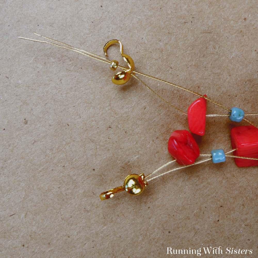 Coral Crisscross Bracelet Detail 4