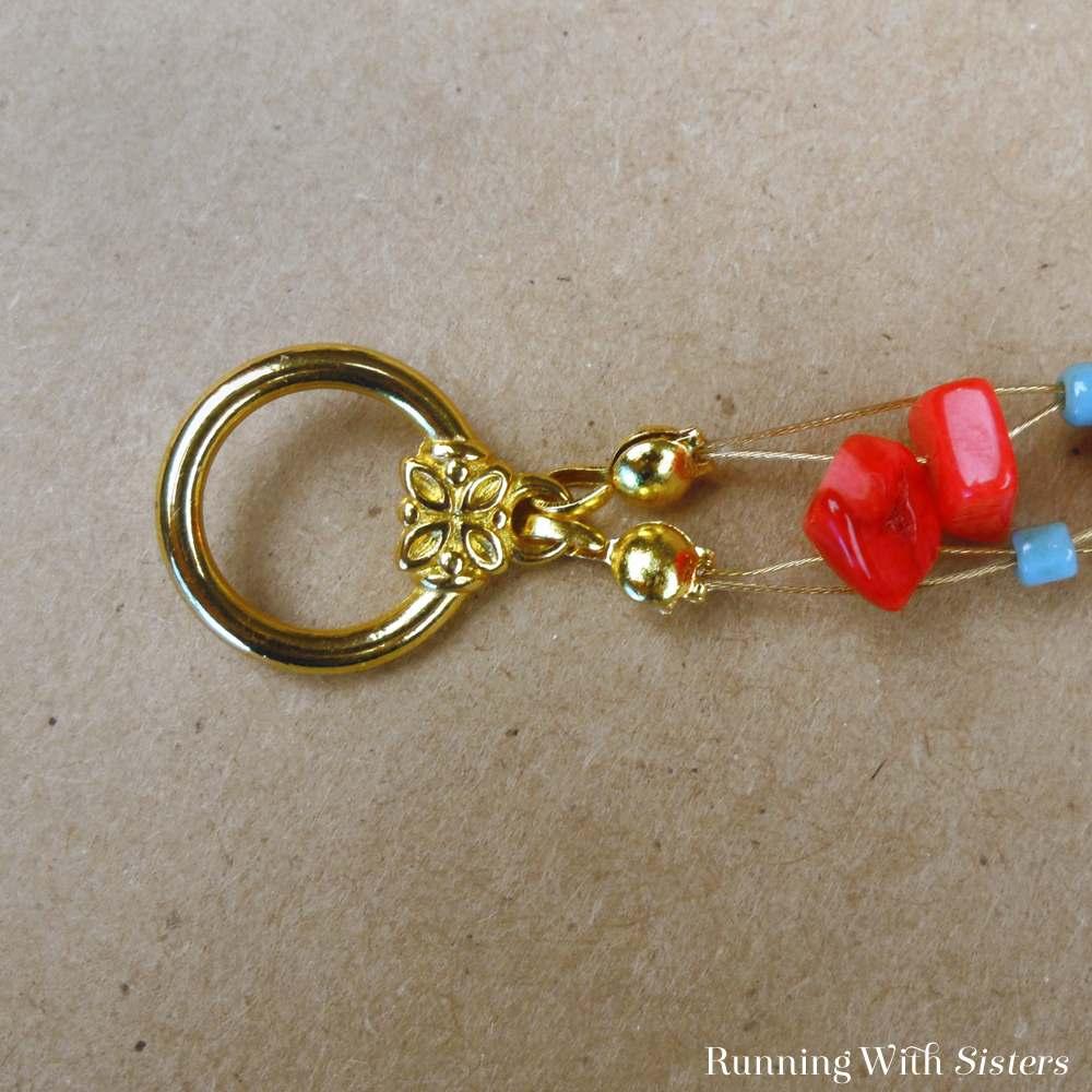 Coral Crisscross Bracelet Detail 5