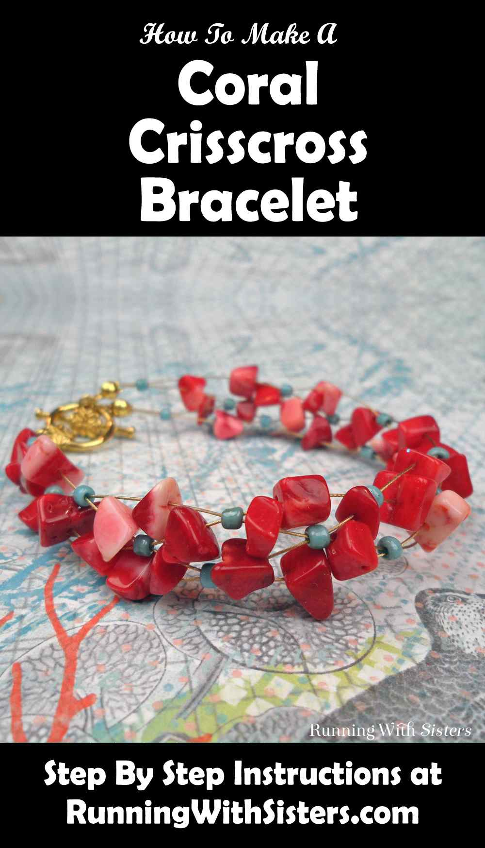Coral Crisscross Bracelet Pinterest