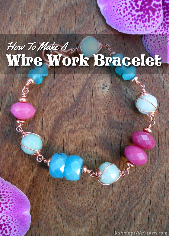 Create an eye-catching wire work bracelet featuring gemstones caged in swirls of copper. Mix in pops of color with natural gemstones in a cheerful palette.