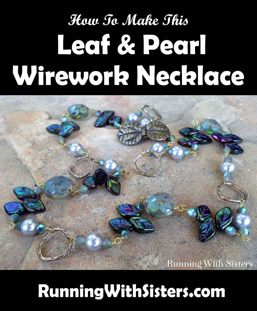 Leaf And Pearl Wirework Necklace Pinterest