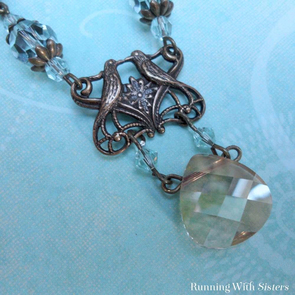 Love Birds Art Nouveau Necklace