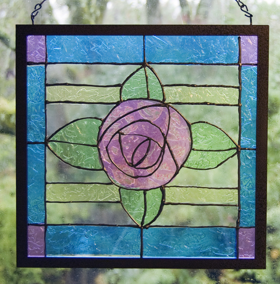 how to make a faux stained glass window running with sisters