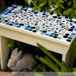 How To Mosaic A Garden Bench