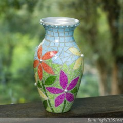 Paper Mosaic Vase Beauty Shot