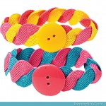 How To Make Rickrack Friendship Bracelets