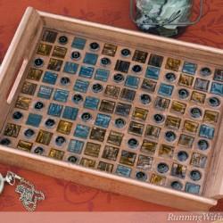 Glass Tile Mosaic Tray