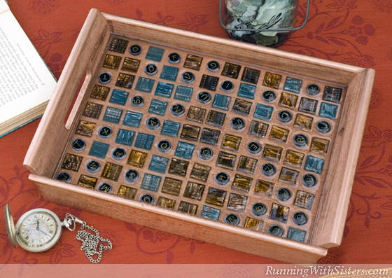 Glass Tile Mosaic Tray