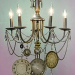 Steampunk Clockface Chandelier