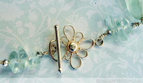 Aquamarine Necklace Detail