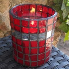 Glass Mosaic Candleholder