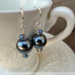 Five Minute Earrings - Black Pearls
