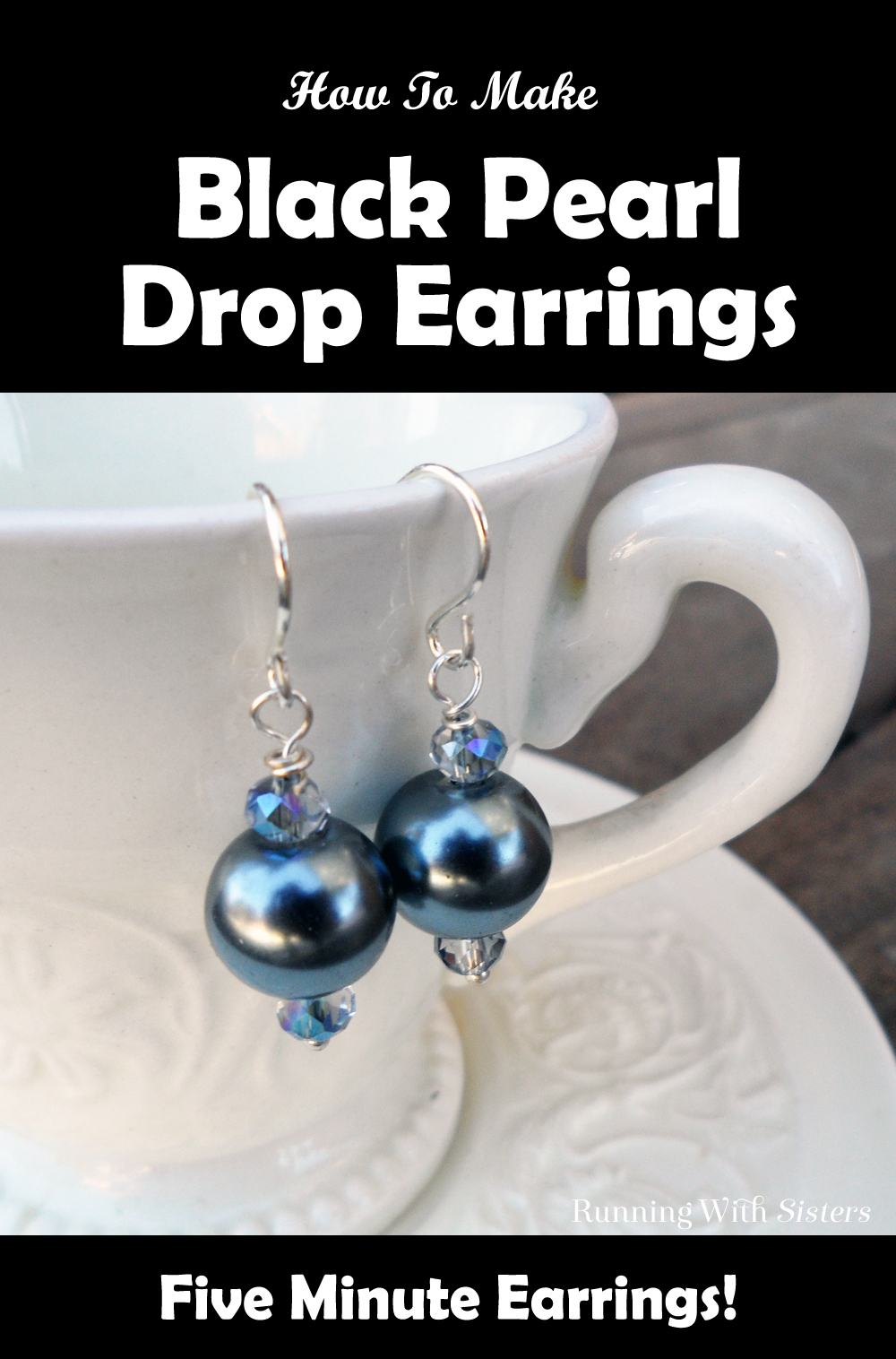 Five Minute Earrings With Black Pearls Pinterest