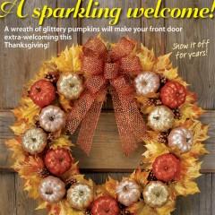 Glittered Pumpkin Wreath