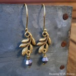 Five Minute Earrings: Leaf and Crystal Jets